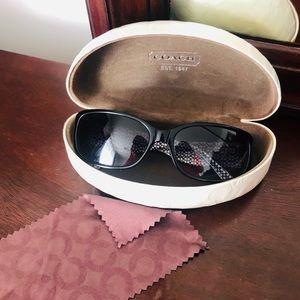 COACH ADDISON (S803) black sun glasses 👓 like new